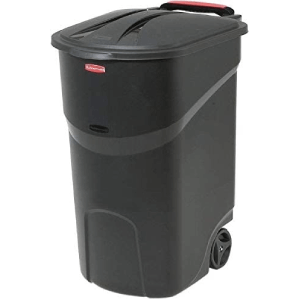 Rubbermaid Roughneck Black Wheeled Trash Can