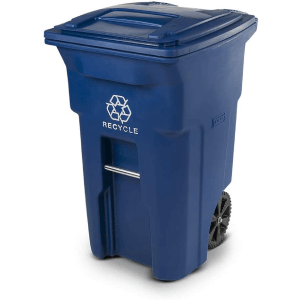 Toter 025564-R1BLU Residential Heavy-Duty Recycling Can