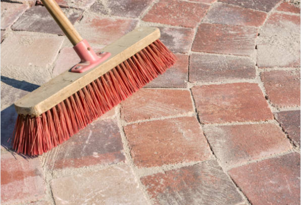 How to sweep a brick floor