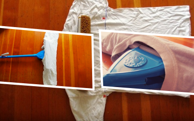 Making Reusable Mop Pads out of Old T-Shirts