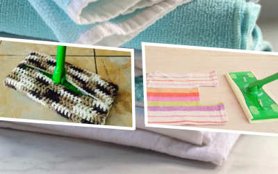 Making Reusable Mop Pads out of Old Towels