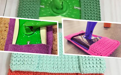 Making a Reusable Mop Pad with Dishcloths