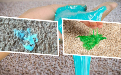Removing Dry Slime Stain Out of Carpet